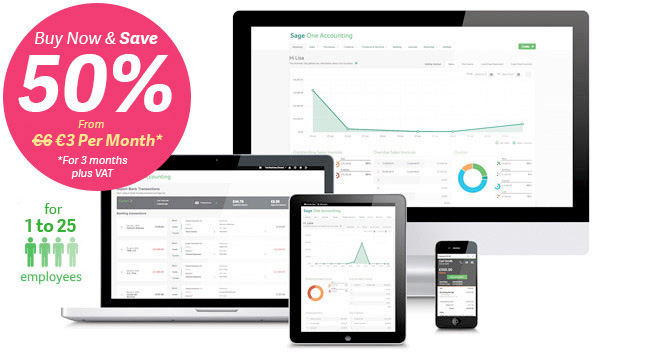Sage One Payroll | Online Payroll software now from just €4.50 Per Month +VAT