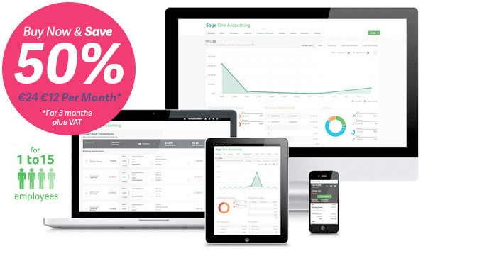 Sage Accounting | Accounting online software now from just €25 Per Month +VAT